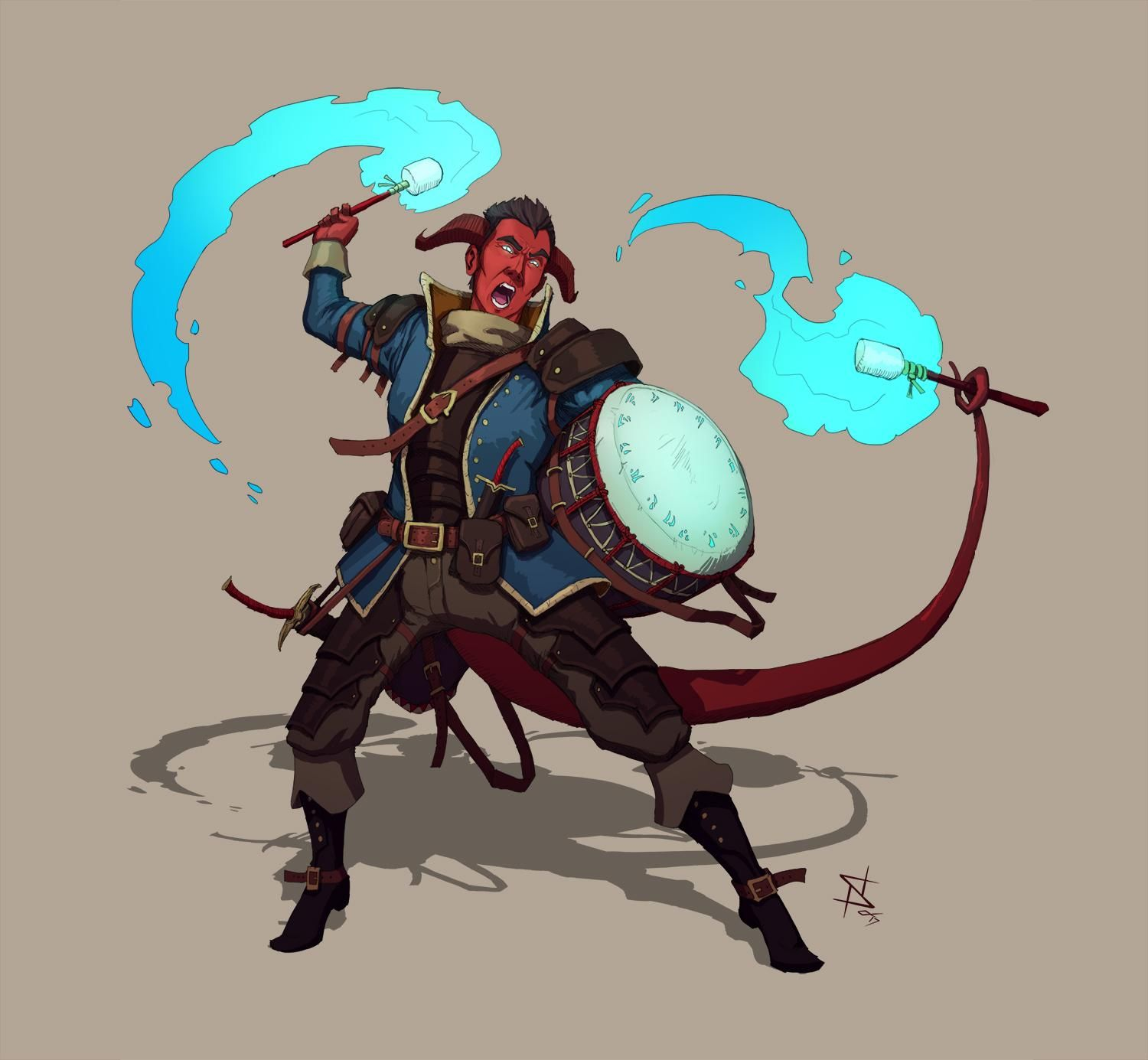 Tiefling Rogue Commission Characterdrawing Concept Art