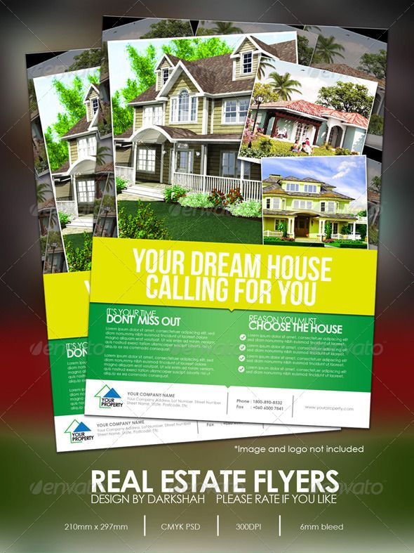 real estate modern flyers