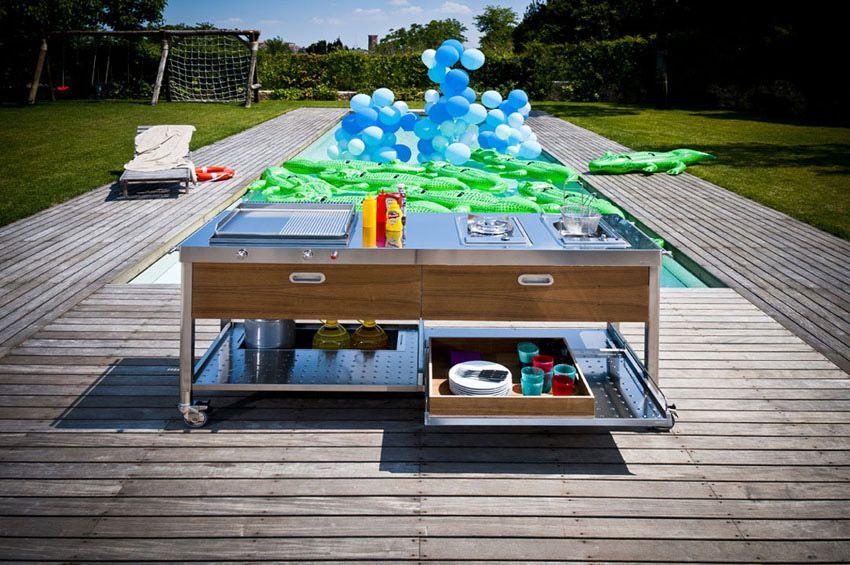Cucine free standing: Cucina 190 Outdoor di Alpes Inox | garden ...