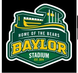 Baylor Stadium Bricks Sports Logo Design Retro Logos Sheild Logo