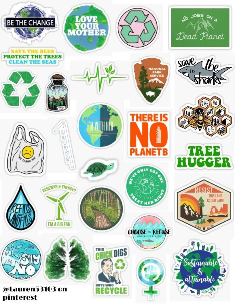 Environment Stickers Stickers Sticker Pack Retro Vintage Sticker