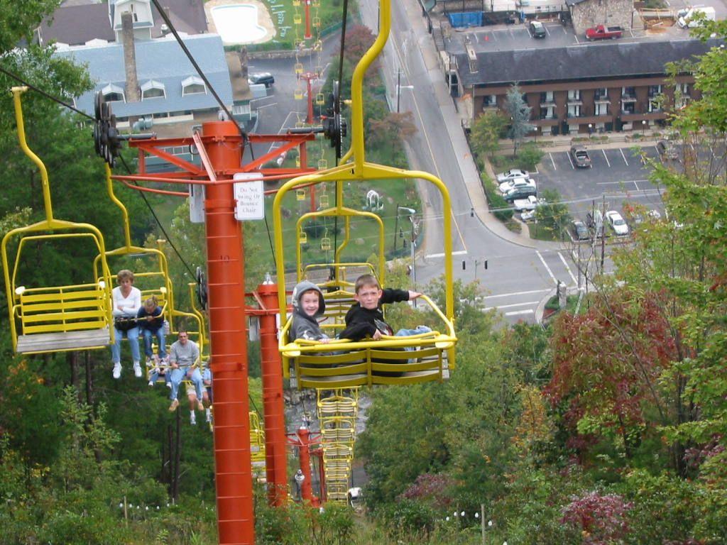 Good Gatlinburg, TN : Grandsons On Chairlift Photo, Picture, Image .