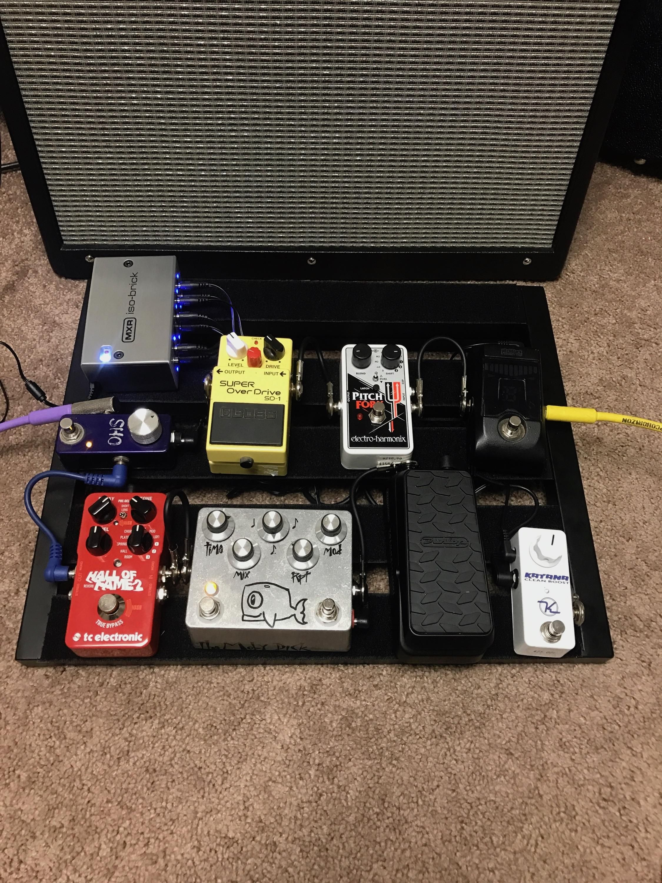 NPD: EHX Pitchfork Keeley mini katana and MXR ISO brick