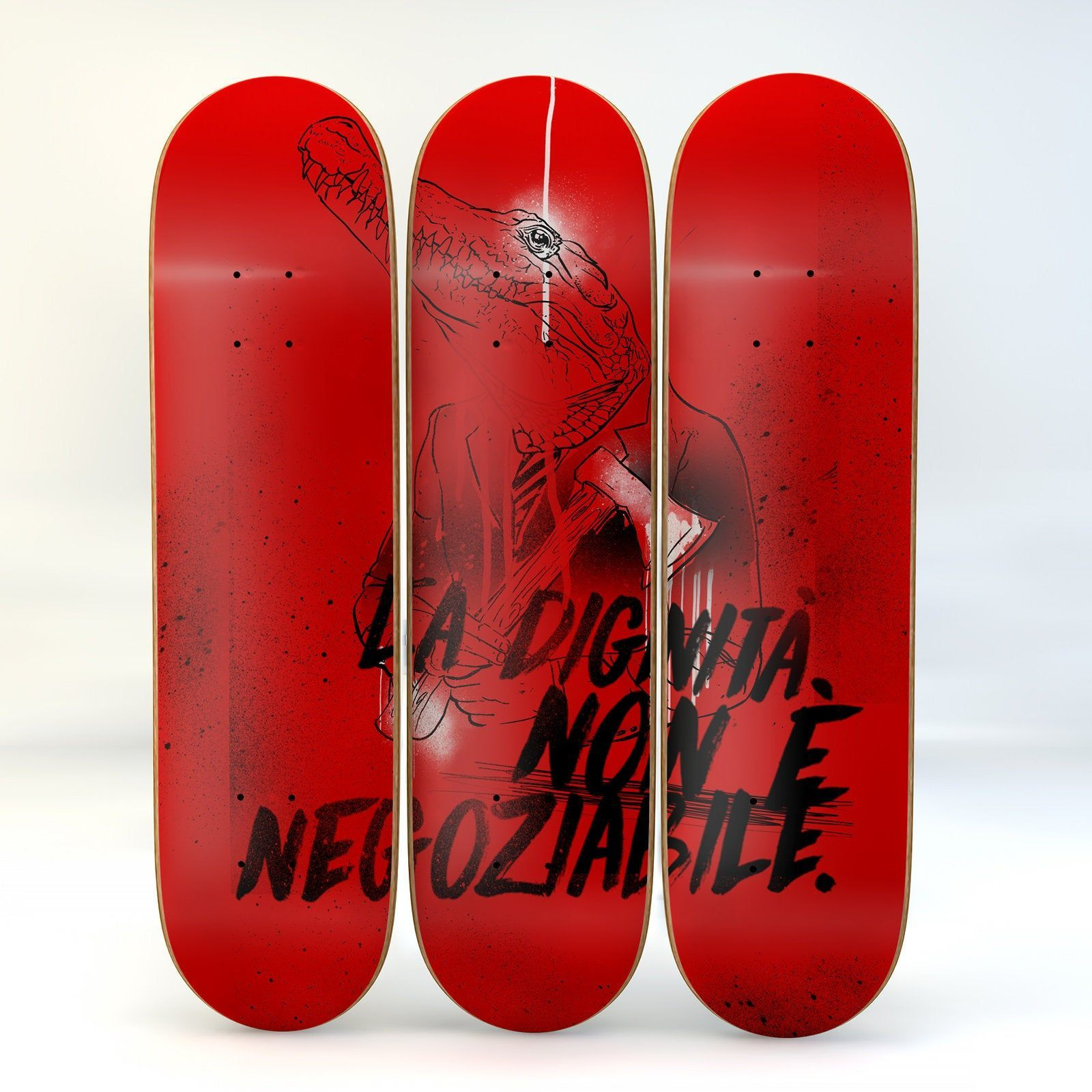 skateboard art dignity is nonnegotiable limited series designs to hang on wall Canadian maple wood modern design  skateboard art dignity is not negotiable limited series...