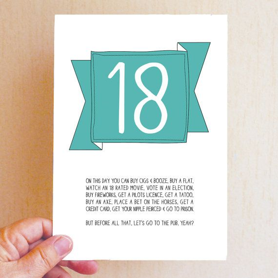Funny 18th Birthday Card 18th Birthday Cards 18th Birthday Funny Birthday Cards