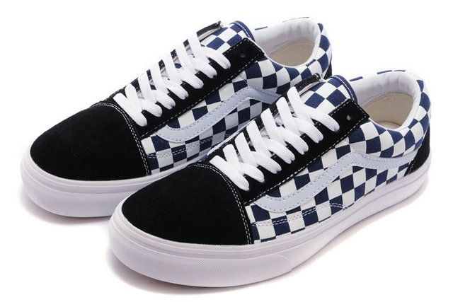 b16ef4126a Classic Vans Old Skool Checkerboard Navy White Suede Off the Wall Skateboard  Sneakers  S14100908  -  39.99   Vans Shop