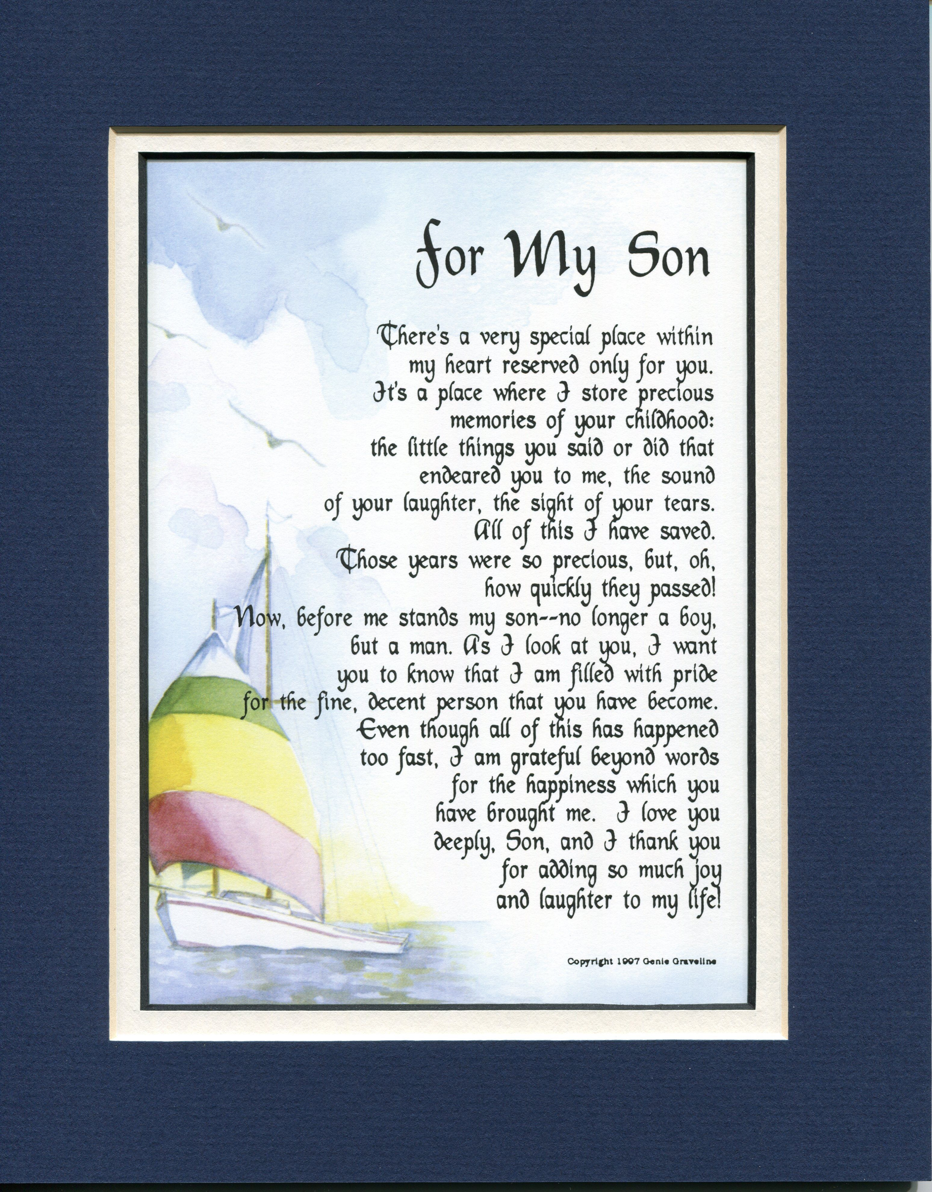 For My Son Poem for my son, Brother poems, Grandson quotes