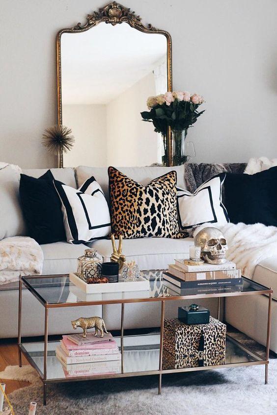 Home Decor in 2020 | Modern glam living room, Glam living ...