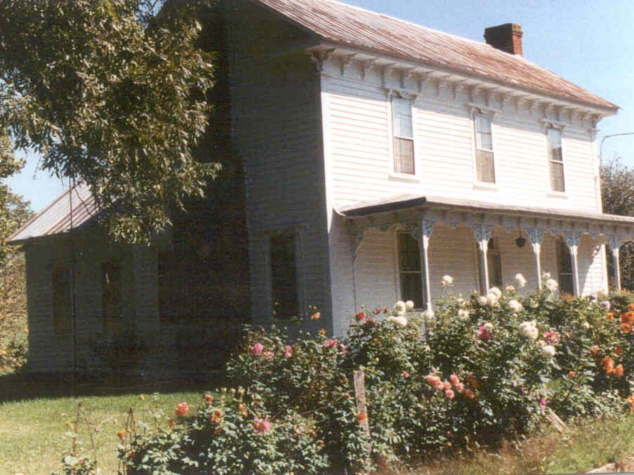 this farmhouse was built by darius and mary robertson in 1875 rh pinterest com
