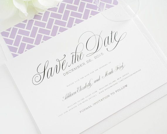 Garden Script Save the Date  Elegant Save the di ShineInvitations