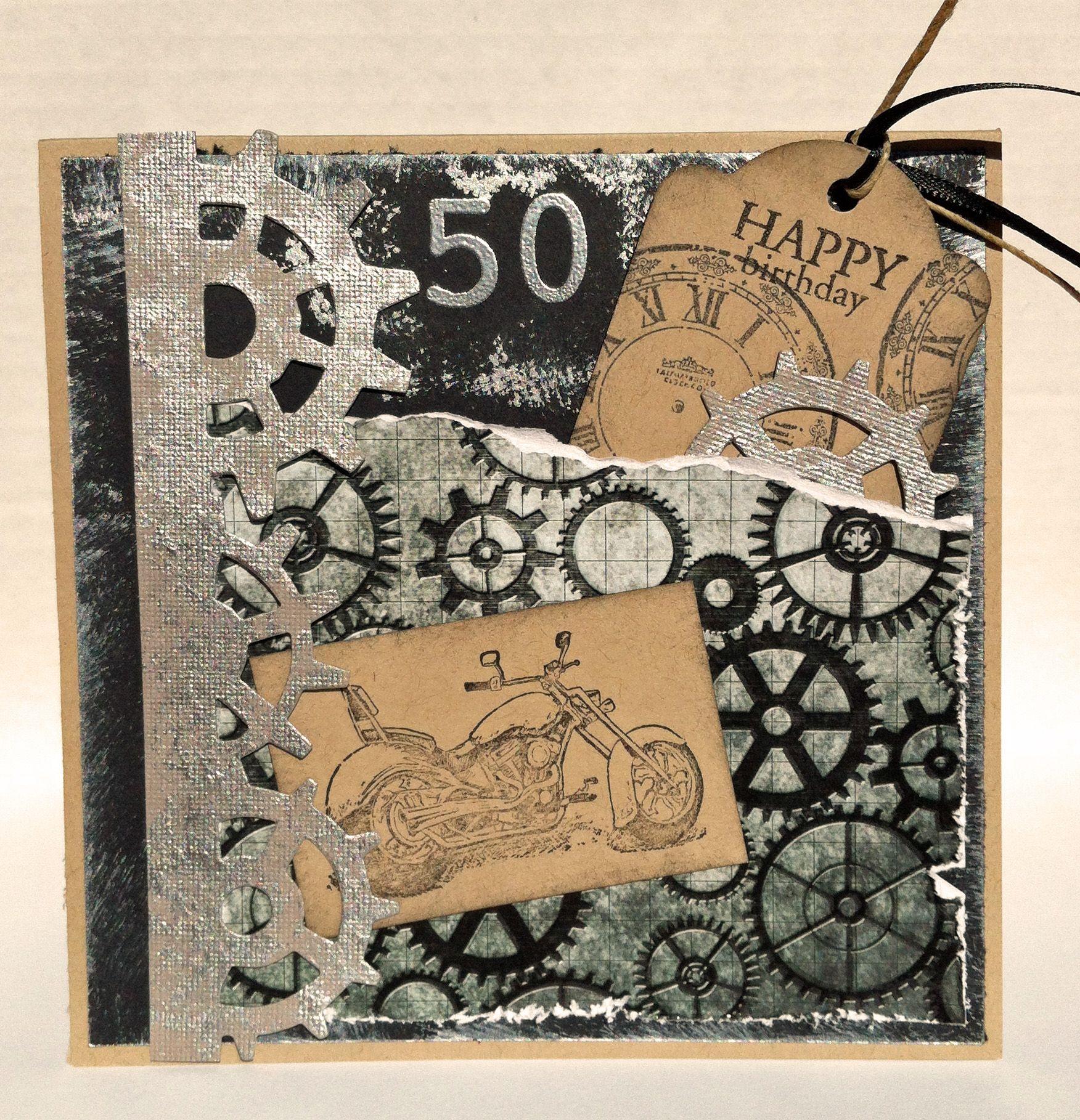 Birthday Card Stampin Up Stamp Motorcycletim Holtz Steampunk Die
