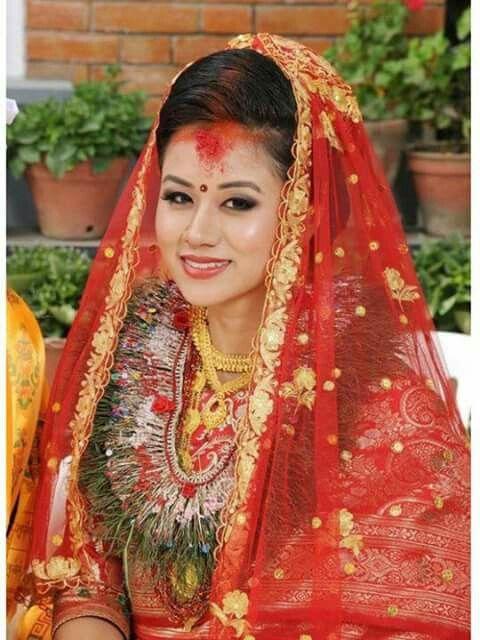 Nepali bride wedding beauty pinterest brides for Wedding dress nepali culture