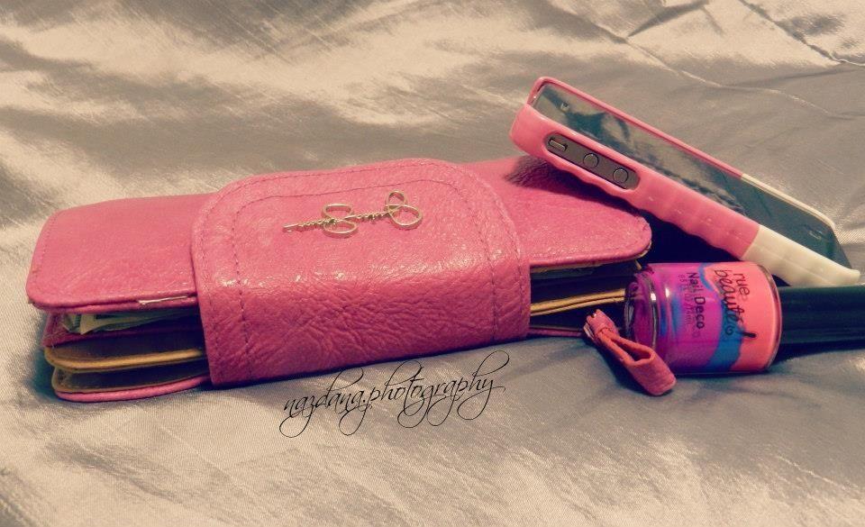 Pink wallet pink nailpolish pink iPhone cover