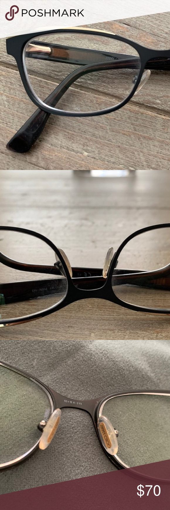 9c3bdfabf0 Jimmy Choo 147 Light Brown Palladium Eyeglasses Jimmy Choo has always  remained true to its original