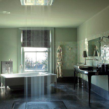 Une salle de bain vert tilleul   Bathrooms   Salle de bain verte ...