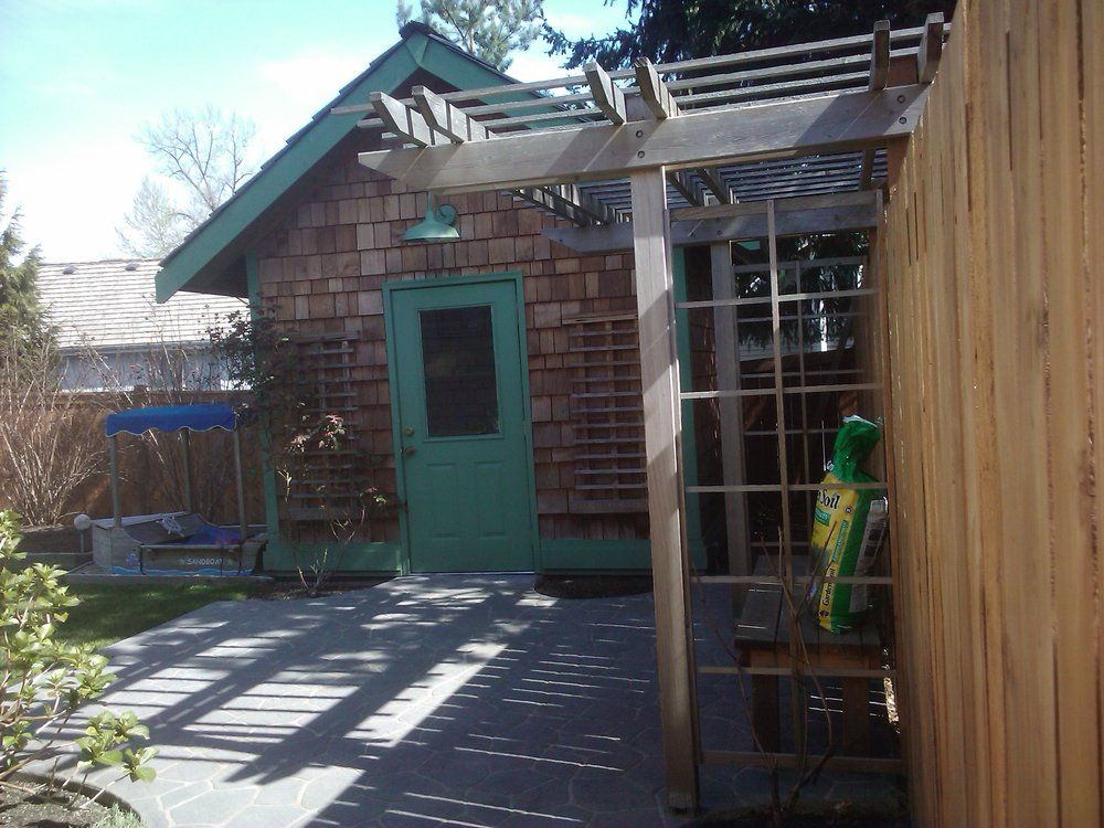 Cedar Garden Shed, Patio, Trellis And A Cute Little Sandbox For The Grand  Kids In Lakemont.