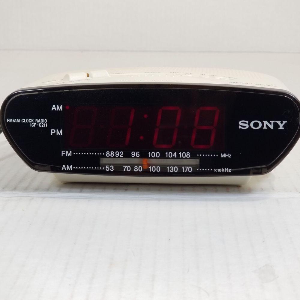 4f6f15dd6d9 Details about Sony Dream Machine ICF-C211 Digital Clock AM FM Radio ...