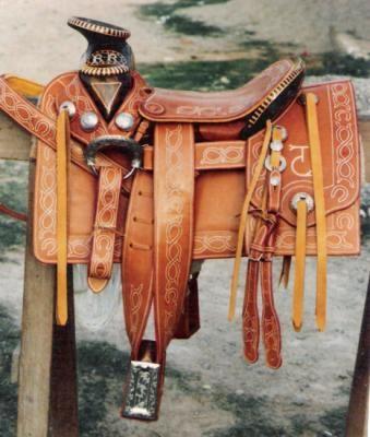 Montura mexicana silla de montar madera cuero de vaca acero inoxidable tradicional a mano - Silla montar caballo ...