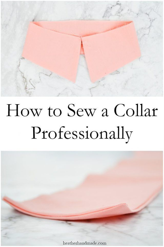 How to Sew a Collar Professionally #sewingtechniques