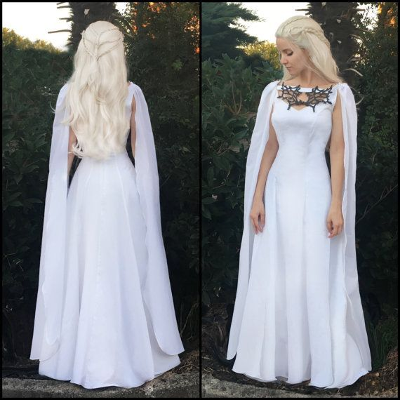 game of thrones costume daenerys meereen dress white can i just wear this as my wedding dress