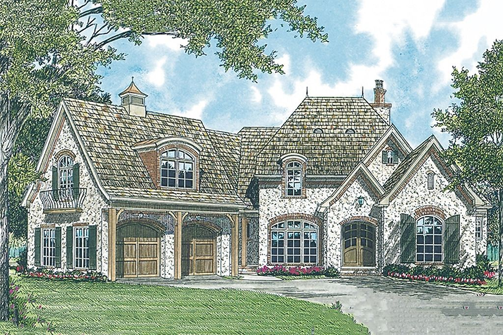 European Style House Plan 4 Beds 4 5 Baths 4731 Sq Ft Plan 453 34 French Country House Plans French House Plans French Country House