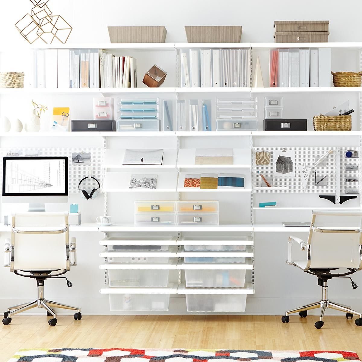 White Elfa Décor Office Home