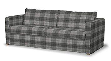 Dekoria Fire Ing Ikea Floor Length Karlstad 3 Seater Sofa Cover Grey Tartan