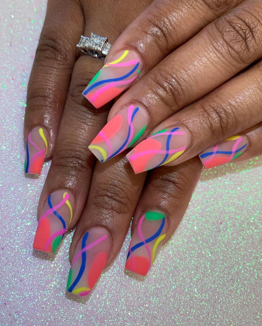 "Toya P ♓️ on Instagram: ""𝓒𝓸𝓵𝓸𝓻 𝓢𝓽𝓻𝓲𝓷𝓰𝓼.....💕 #757 #757nails #757nailtech #757nailartist #757nailart #nails #nailart #nailswag #nailporn #nailartist #nailtech #dmv…"""