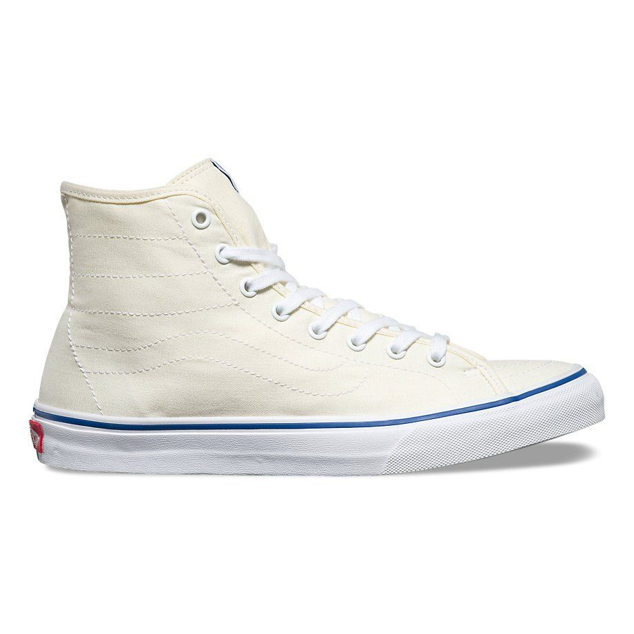 23e8281fc6 Vans Canvas SK8-HI Decon (Classic White True White)