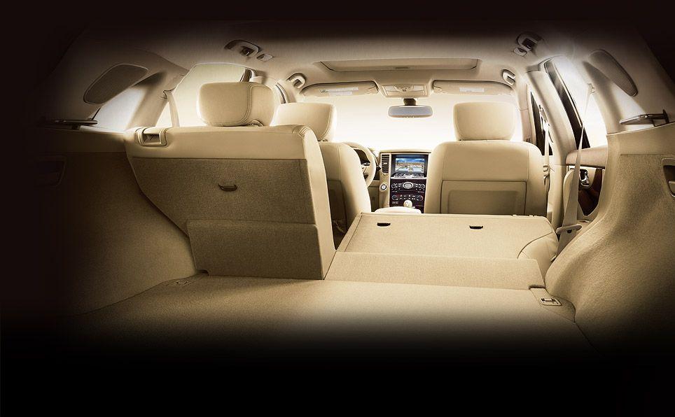 2013 Infiniti Fx Seats Fold Down For Extra Cargo Space Infiniti Infiniti Usa Car Seats