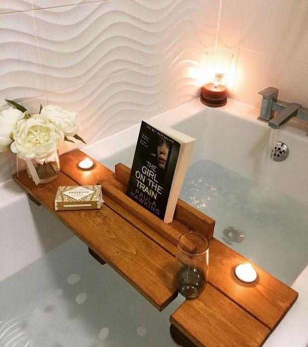 Photo of Spa-Badezimmer: Vergiss das Tischchen für die Badewanne nicht