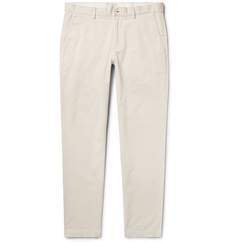 CLUB MONACO Connor Slim-Fit Stretch-Cotton Twill Chinos. #clubmonaco #cloth #trousers