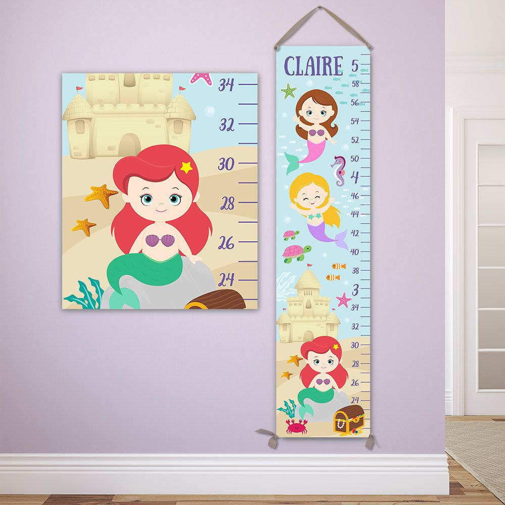 Mermaid growth chart personalized canvas growth chart gc4335r mermaid growth chart personalized canvas growth chart gc4335r by jolieprints on etsy nvjuhfo Image collections
