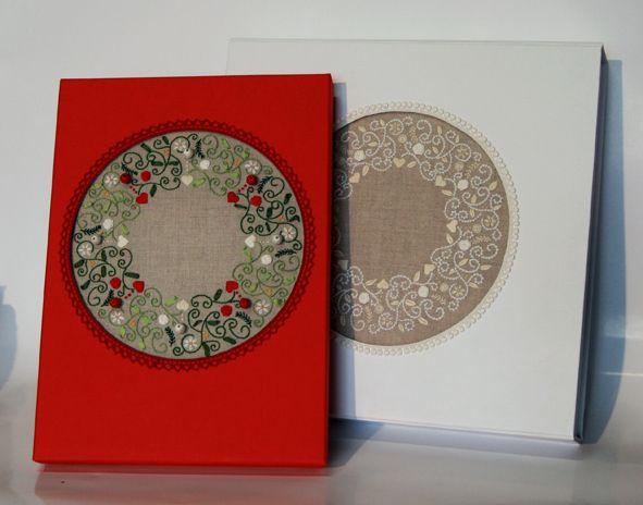 Fabriquer une jolie bo te avec son ouvrage rouge du for Boite ouvrage