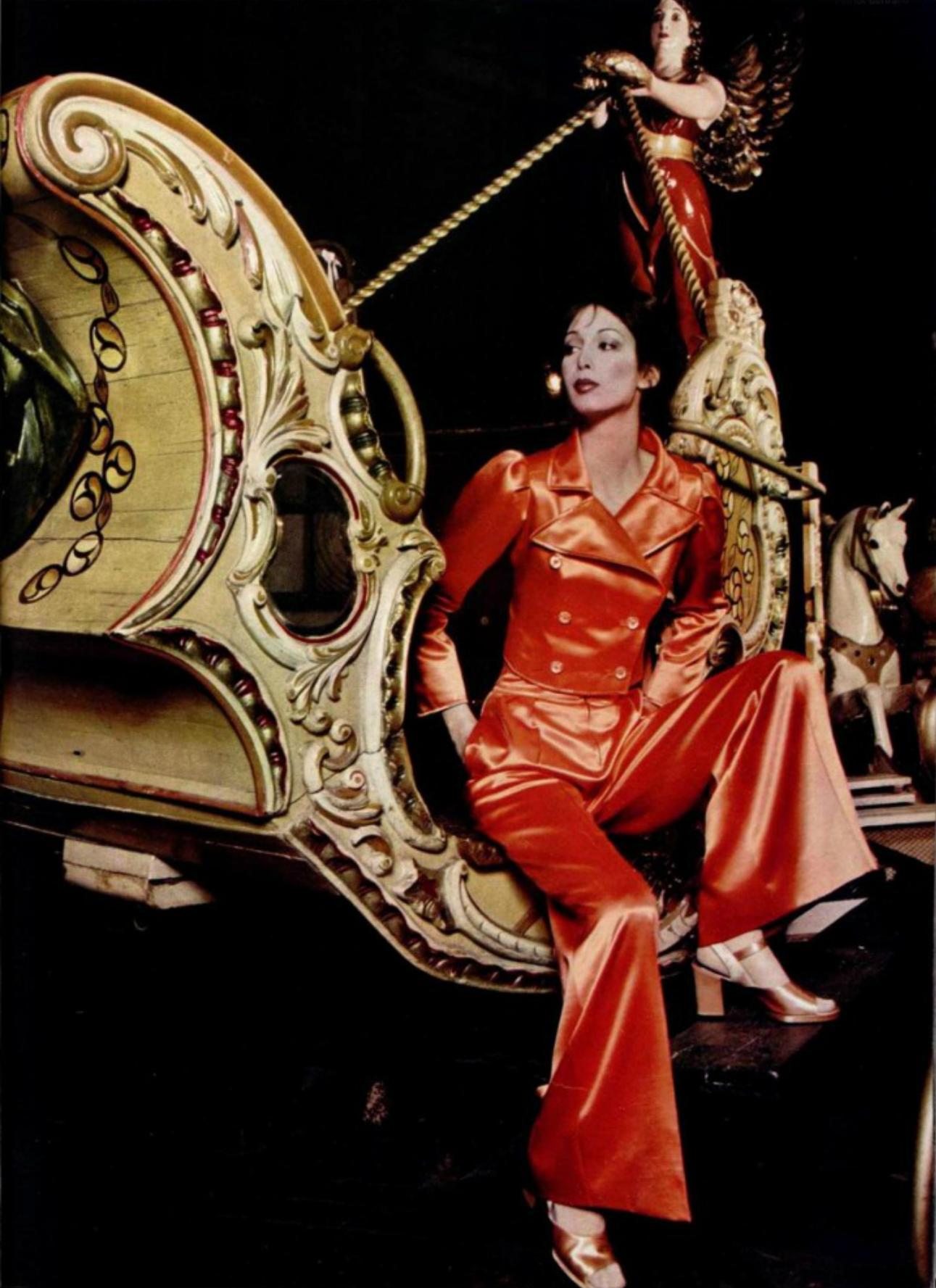 1970s Ungaro orange suit
