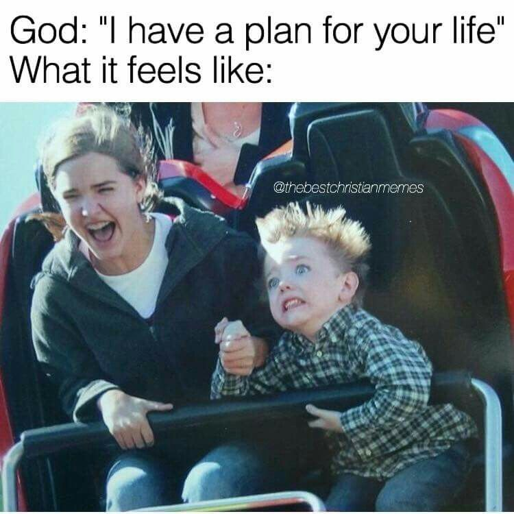 Image result for holy spirit roller coaster meme