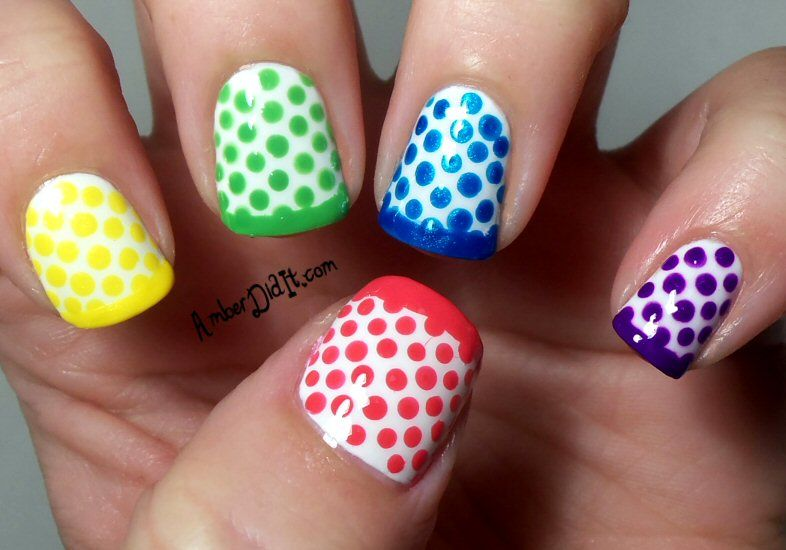 Polka dots! | Top Nail Picks for March | Pinterest | Manicuras ...