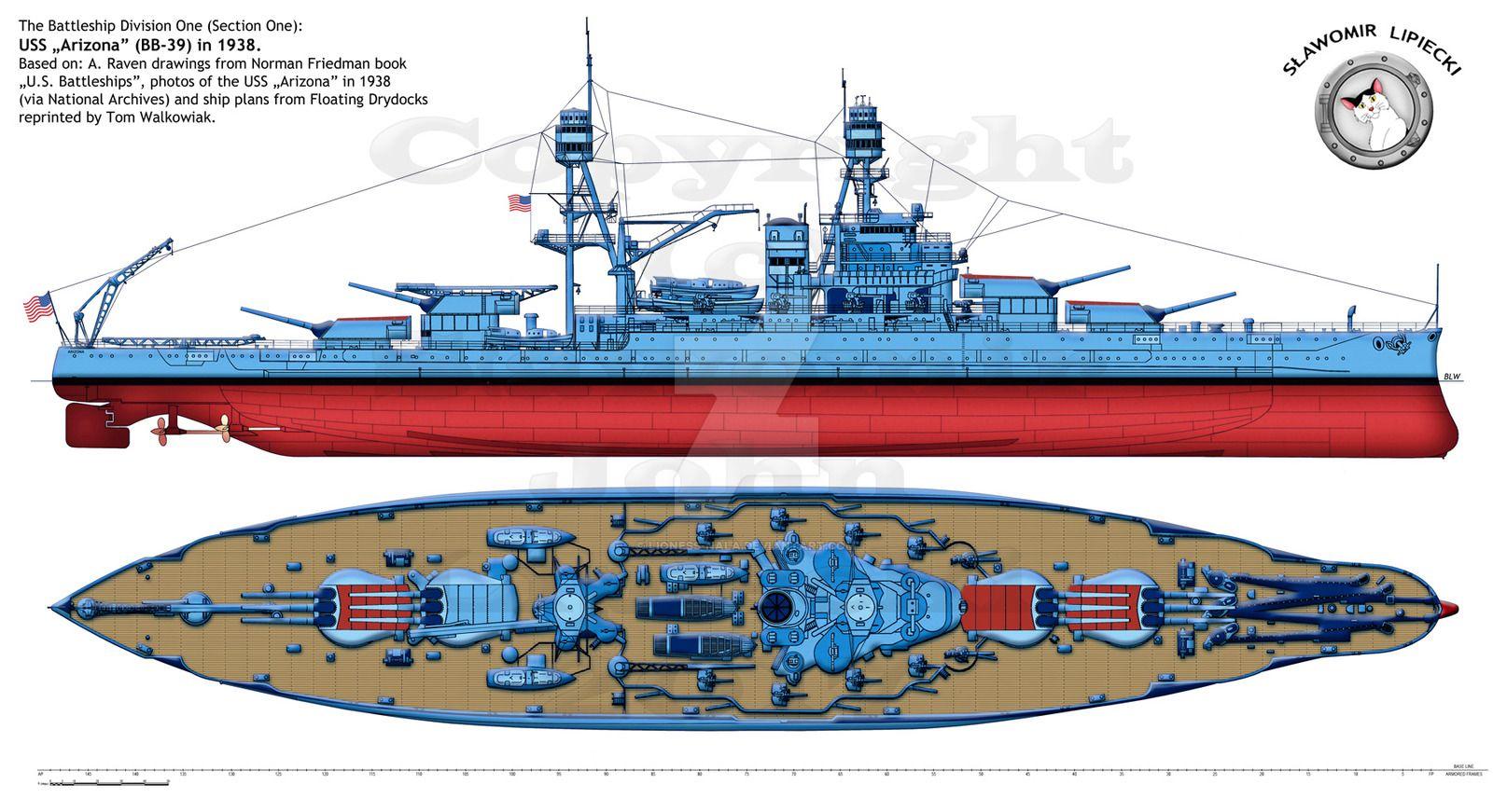 US Naval Battleship Photo Print USN Navy USS ARIZONA BB 39