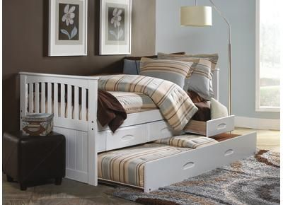 Badcock   Lucy Twin TrundleBed W/ Storage $400 Notice It Has Both A Trundle  And Storage Drawers