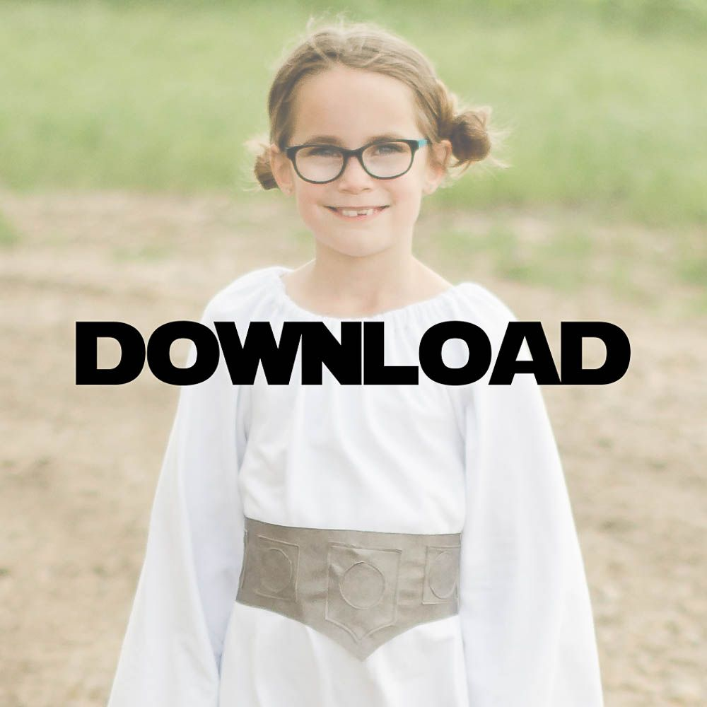 I love this easy sew Star Wars Inspired DIY Princess Leia inspired costume. It has a free sewing pattern - perfect for Halloween for a little girl.  sc 1 st  Pinterest & DIY Princess Leia Costume Free Pattern Tutorial | Princess leia ...