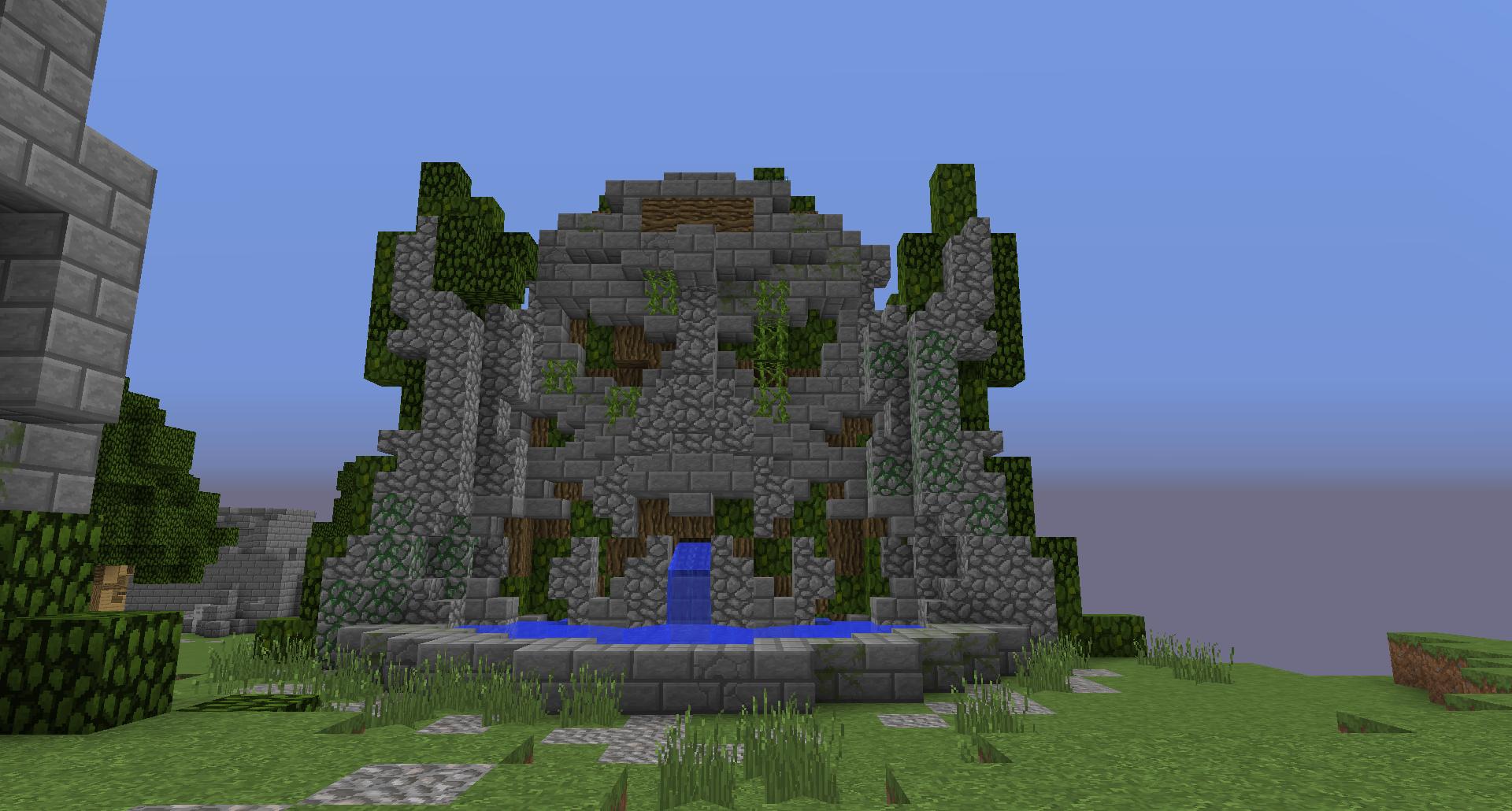 Minecraft Fantasy Building Builds Skills Fountain Water - Minecraft zug spiele