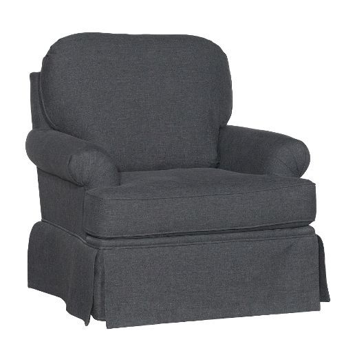 Rc Willey Hours: Smoke Gray Swivel Glider Accent Chair - Paradigm