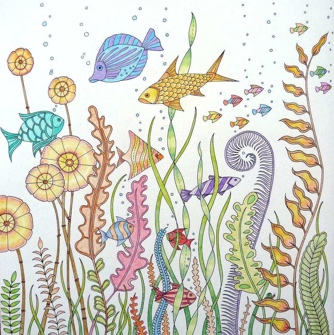 Lost Ocean Gekleurd Door Marianne In Het Boek De Verborgen Oceaan ColorsJohanna Basford