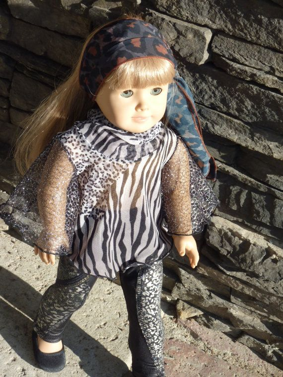"""American Girl Doll Clothes - The Bohemian Girl Collection - The Ninth Look,  for American Girl Doll and 18"""" Vinyl Doll.. $22.00, via Etsy."""