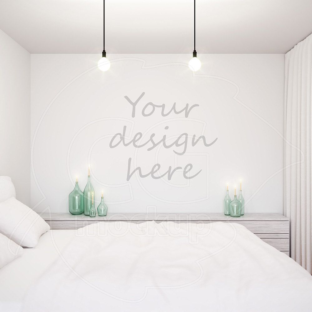 Styled Stock Blank Wall Mockup Wall Decal Stencil