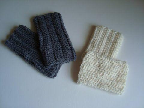 ▷ How to Crochet Fingerless Gloves - YouTube   CROCHET FINGERLess