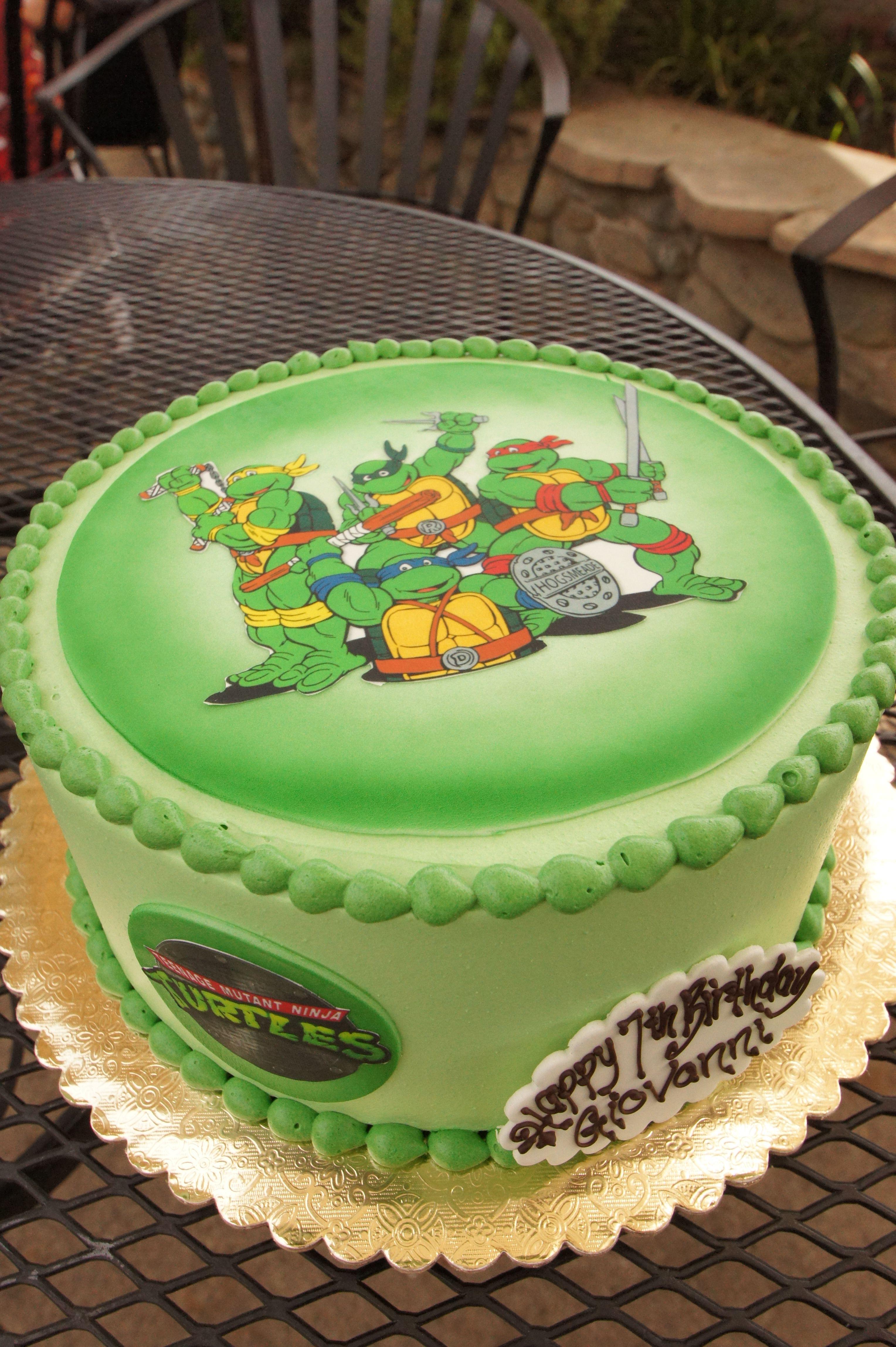 Groovy Green Edible Image Teenage Mutant Ninja Turtles Birthday Cake Funny Birthday Cards Online Bapapcheapnameinfo