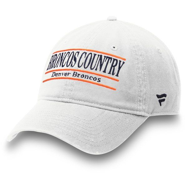 218056503 Denver Broncos NFL Pro Line by Fanatics Branded Broncos Country Nickname  Bar Adjustable Hat - White