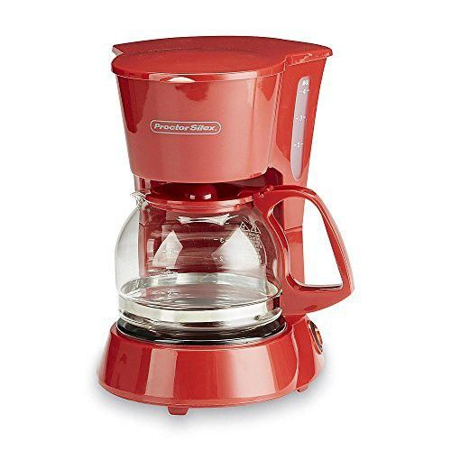 4 Cup Red Coffee Maker Small Kitchen Spaces Single Serving Coffeepot Red Coffee Maker 4 Cup Coffee Maker Small Coffee Maker