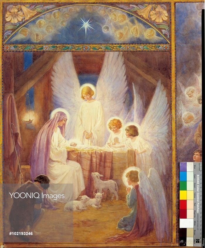'The Star of Bethlehem'  Christmas card. Margaret Tarrant
